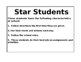 Star Student Bulletin Board Display Pages - Includes Colorful Star Patterns