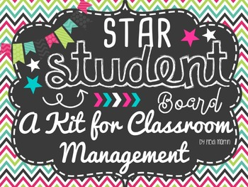 Star Student Board No-Prep KIT for Classroom Management! #happy2016