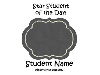 Star Student Book Freebie