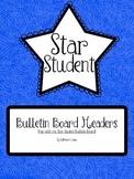 Star Student Bulletin Board Headers (Multi-Colored)