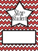 Star Student Bulletin Board Headers (Red Chevron)