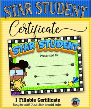 Star Student Certificate 2