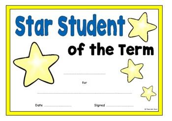 Star Student Certificates