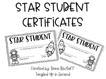 star student certificate teaching resources teachers pay teachers
