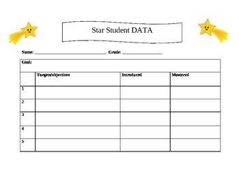 Star Student Data records