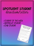 Star Student Direction Letter