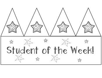Star Student Hats (Freebie!)