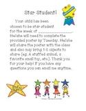 Star Student Letter!