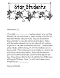 Star Student Letter Home