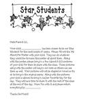 Star Student Letter Home