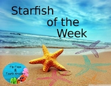 Star Student Poster- Starfish of the Week