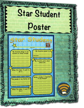Star Student Poster Template