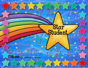 Star Student Punch Card