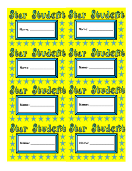image about Printable Punch Cards known as Star Pupil Punch Playing cards Printable