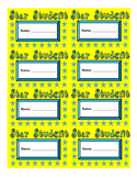 Star Student Punch Cards Printable