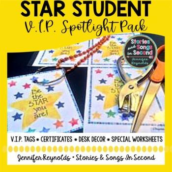 Star Student Spotlight Pack-Positive Behavior Incentive Activities