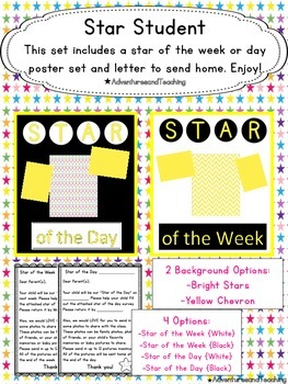 Star Student {Star of the Day and Star of the Week}