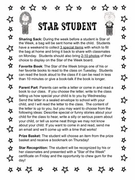 Star Student, Star of the Week