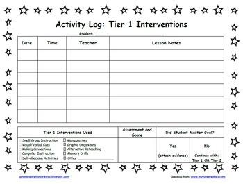 Star Student Themed PDSA Acceleration/RTI Folder File 1st Grade