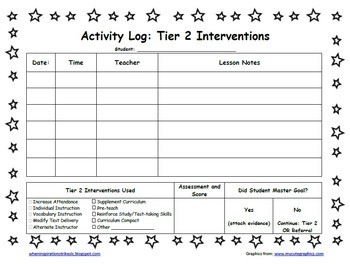 Star Student Themed PDSA Acceleration/RTI Folder File 2nd Grade