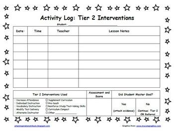 Star Student Themed PDSA Acceleration/RTI Folder File Kinder
