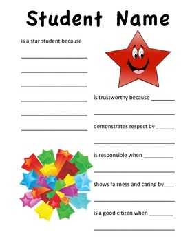 Star Student Writing