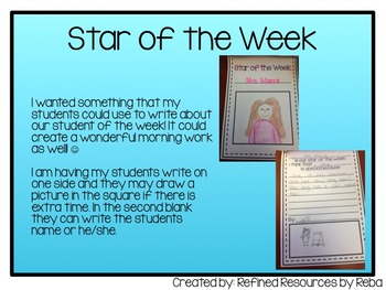 Star Student Writing