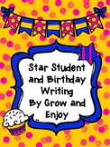 Star Student and Birthday Writing