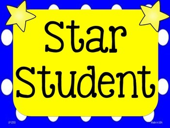 Star Student and Wall of Fame sign