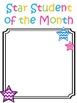 Chevron Star Student of the Month About Me Printable/Bulle
