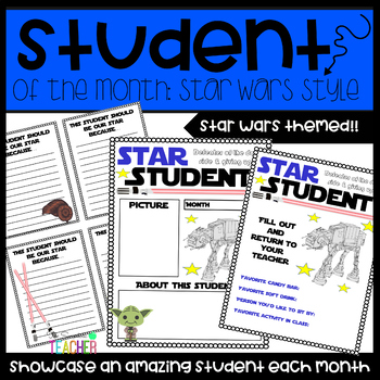 Star Student of the Month-Star Wars Themed: Grades 1-6