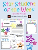 Chevron Star Student of the Week About Me Printable/Bulletin Board Set