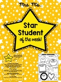 Star Student of the Week Activities