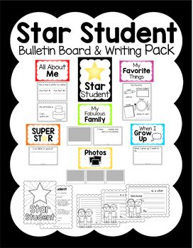 Star Student of the Week Bulletin Board & Writing Pack