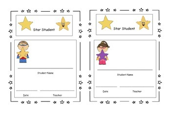 Star Student of the Week Certificate