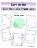 Star Student of the Week Class Compliment Book Pages