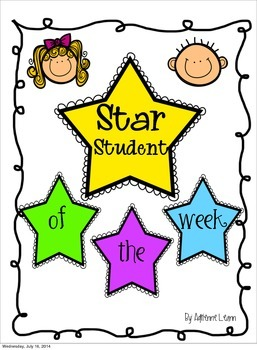 Star Student of the Week Freebie