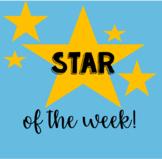 Star Student of the Week Parent Letter | Editable Kindergarten Letter