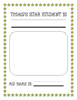 Star Student or Queen/King of the Day