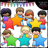 Star Students - Clip Art & B&W Set