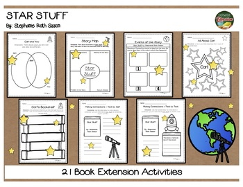 Star Stuff Carl Sagan Biography by Sisson 21 Book Extension Activities NO PREP