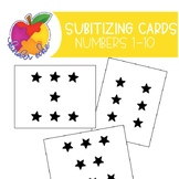 Star Subitizing Cards with Numbers 1-10 {KinderEcke}