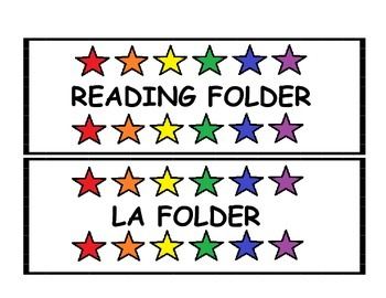 Star Subject Folder Labels