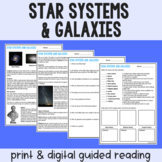 Star Systems & Galaxies Guided Reading - PDF & Digital Versions