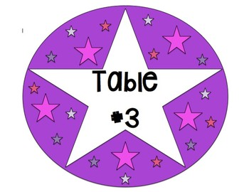 Star Table Signs