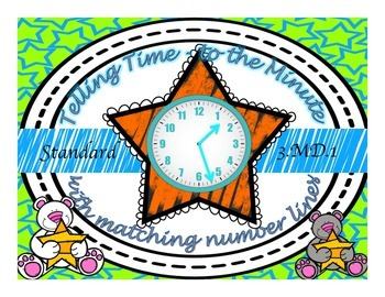 Star Telling Time to the Minute with Number Lines