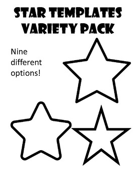 Star Template Star Coloring Page Star Outline Star ...