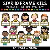 Star Ten Frame Kids Clipart