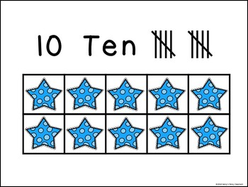 Star Ten Frame Posters  with Tally Marks (1-10)