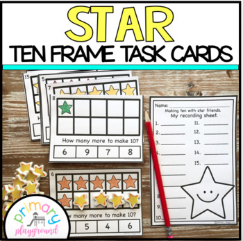 Star Ten Frame Task Cards Making Ten With Star Friends Center